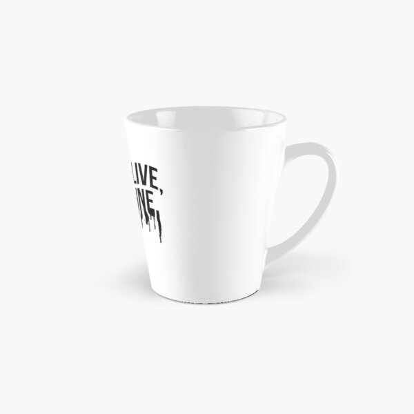 Black Drip Text (White) Tall Mug