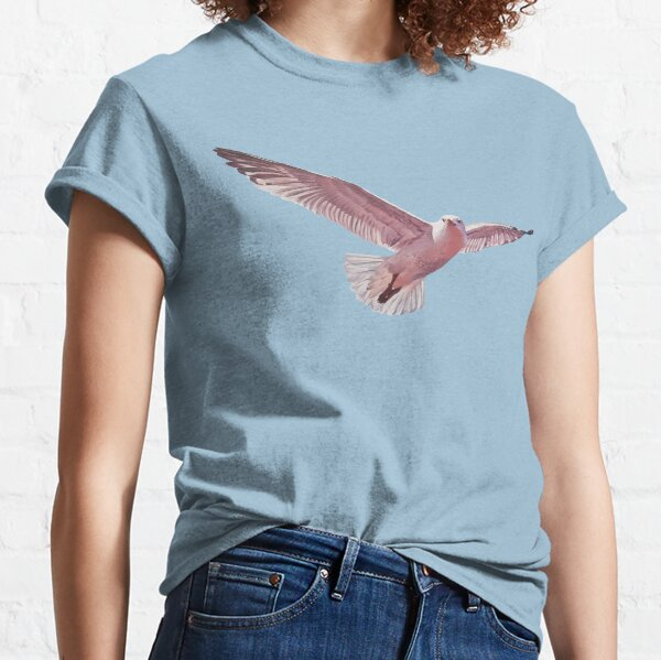Pink Gull 2 - herring gull painting (no background) Classic T-Shirt