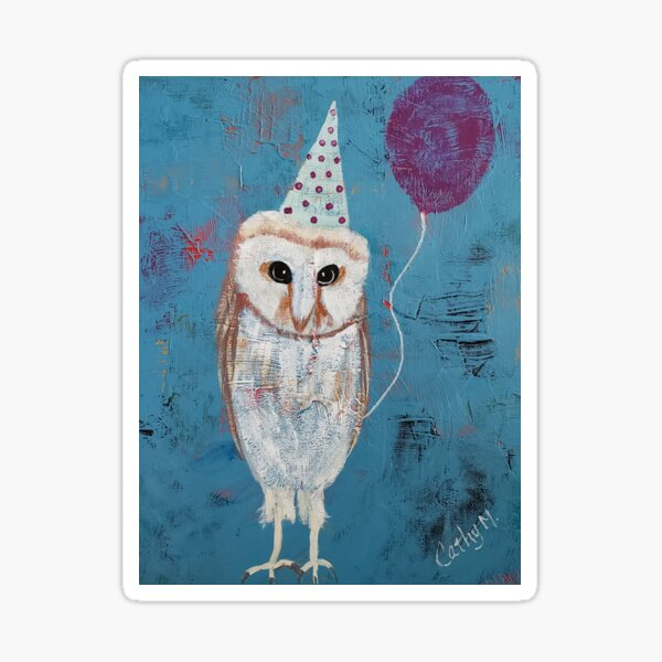 Party Owl Sticker