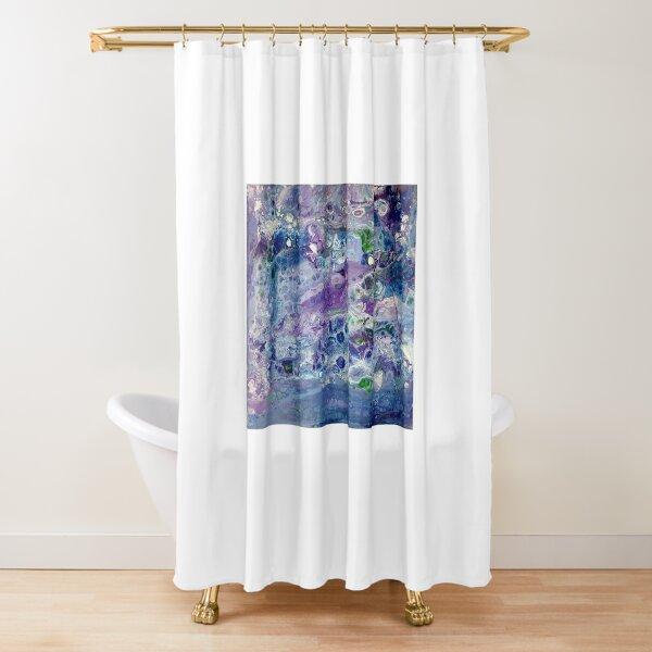 Blue Flow Shower Curtain