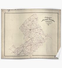 Civil War Maps 0337 Culpeper and Orange Counties Virginia Poster