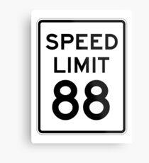 Speed Limit 88 Metal Print