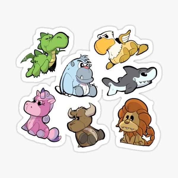 The Stuffed Crew Pattern Sticker