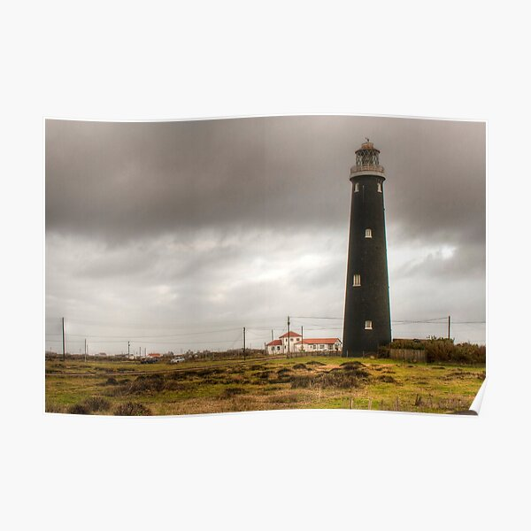 Old Lighthouse Dungeness Poster