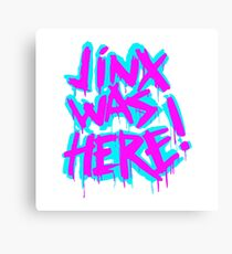 JINX WAS HERE Canvas Print