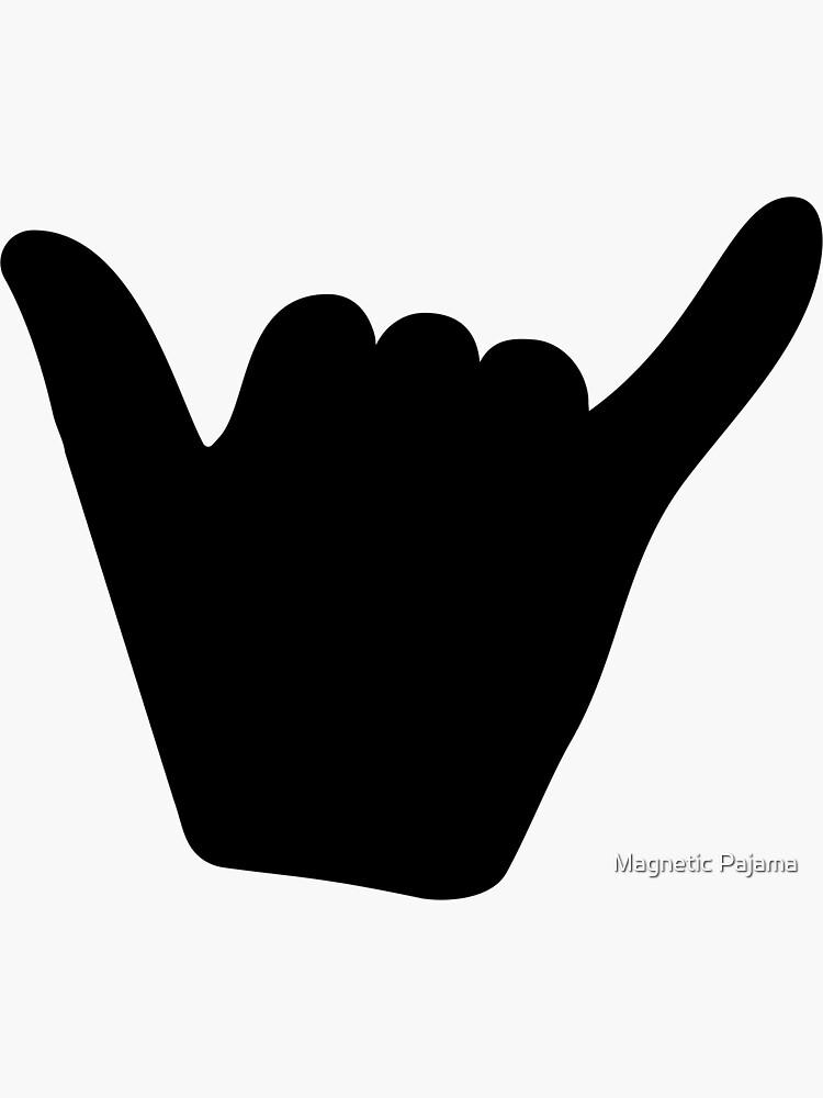Shaka Beach Vibes Hippie Symbol Black by MagneticMama