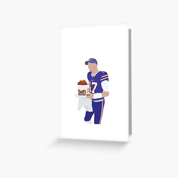 Josh Allen, Buffalo Bills, Duff's Chicken Wings Sticker Greeting Card