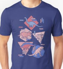 90's Dinosaur Pattern - Rose Quartz and Serenity version Unisex T-Shirt