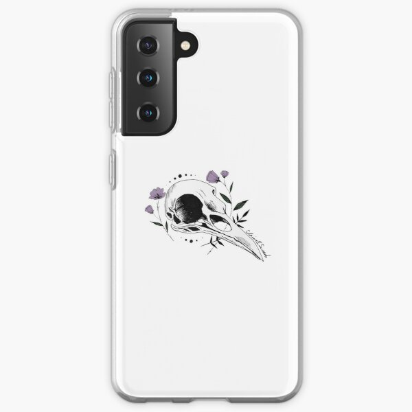 Raven Skull with Lilac Samsung Galaxy Soft Case
