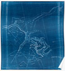 Civil War Maps 2194 Preliminary map of the battlefield of Waynesboro Virginia March 2 1865 Inverted Poster