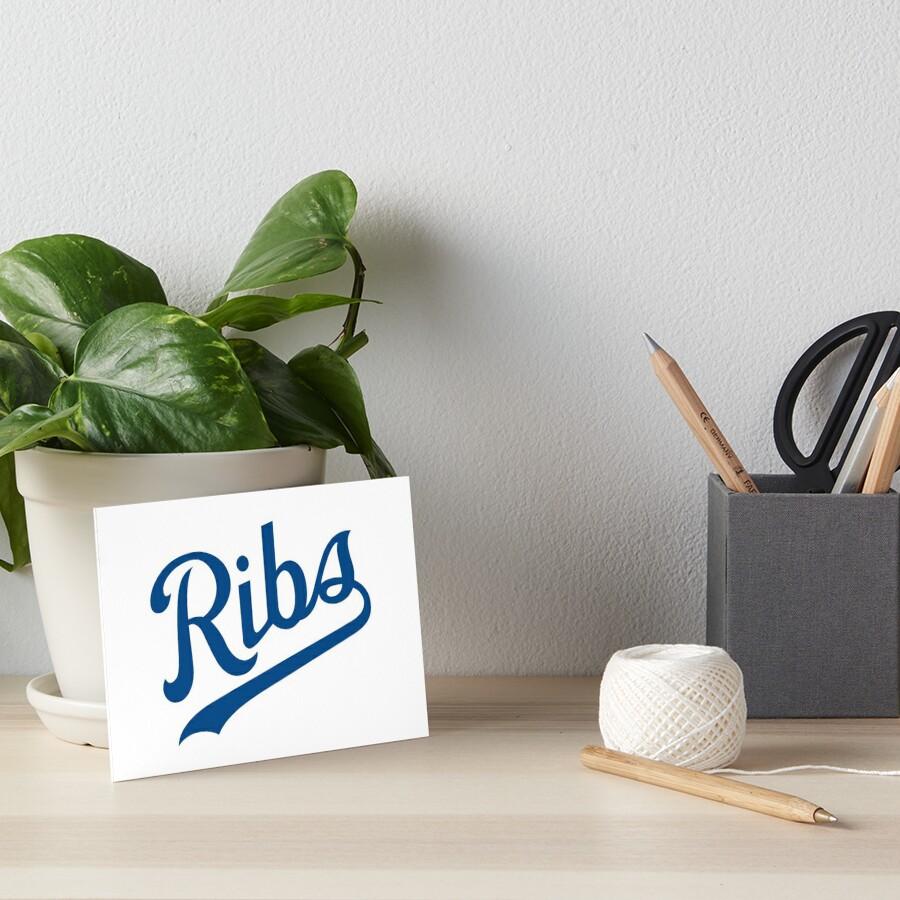 KC Ribs - White 1 Art Board Print