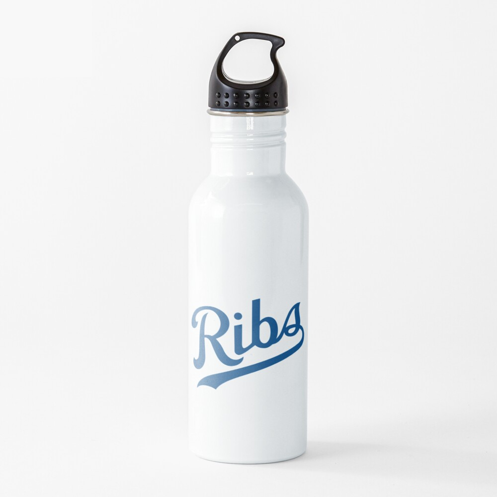 KC Ribs - White 1 Water Bottle