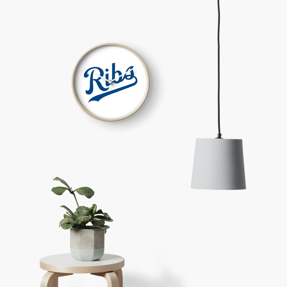 KC Ribs - White 1 Clock