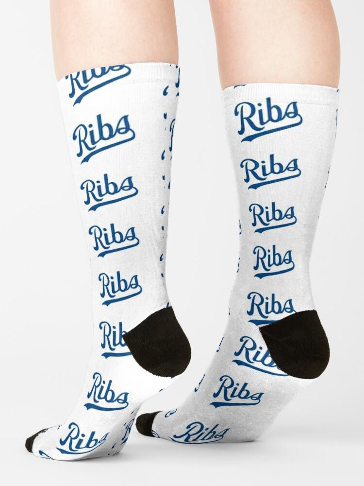 Alternate view of KC Ribs - White 1 Socks