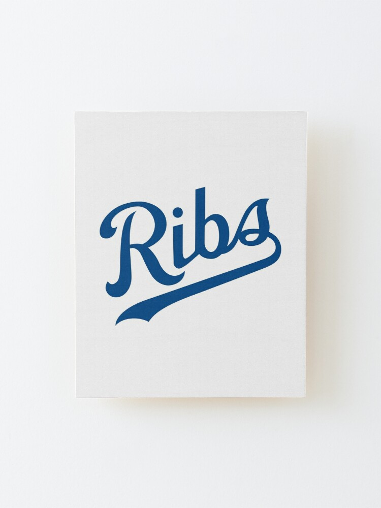 Alternate view of KC Ribs - White 1 Mounted Print