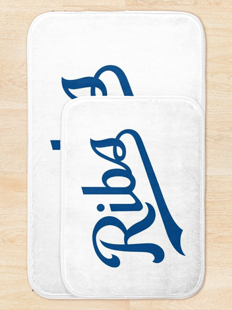 Alternate view of KC Ribs - White 1 Bath Mat