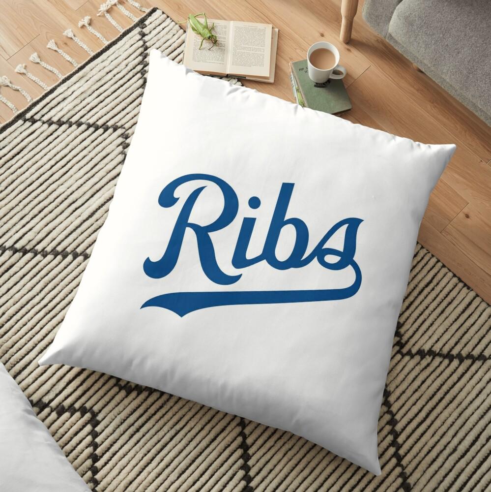 KC Ribs - White 1 Floor Pillow
