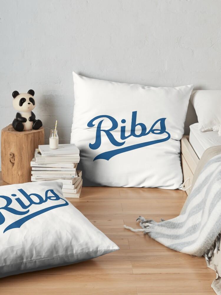 Alternate view of KC Ribs - White 1 Floor Pillow
