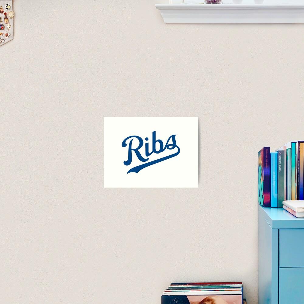 KC Ribs - White 1 Art Print