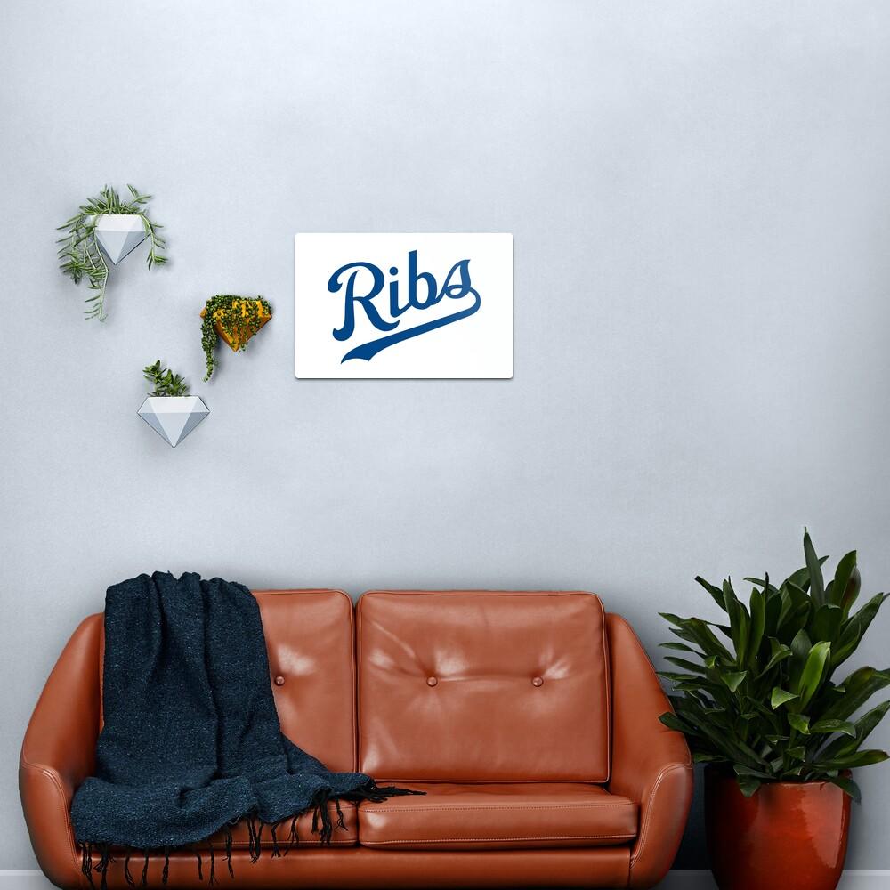 KC Ribs - White 1 Metal Print