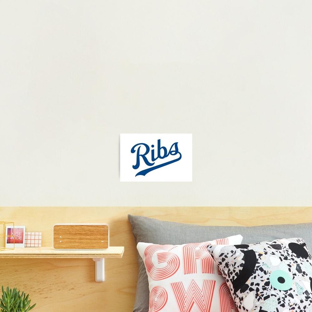 KC Ribs - White 1 Photographic Print