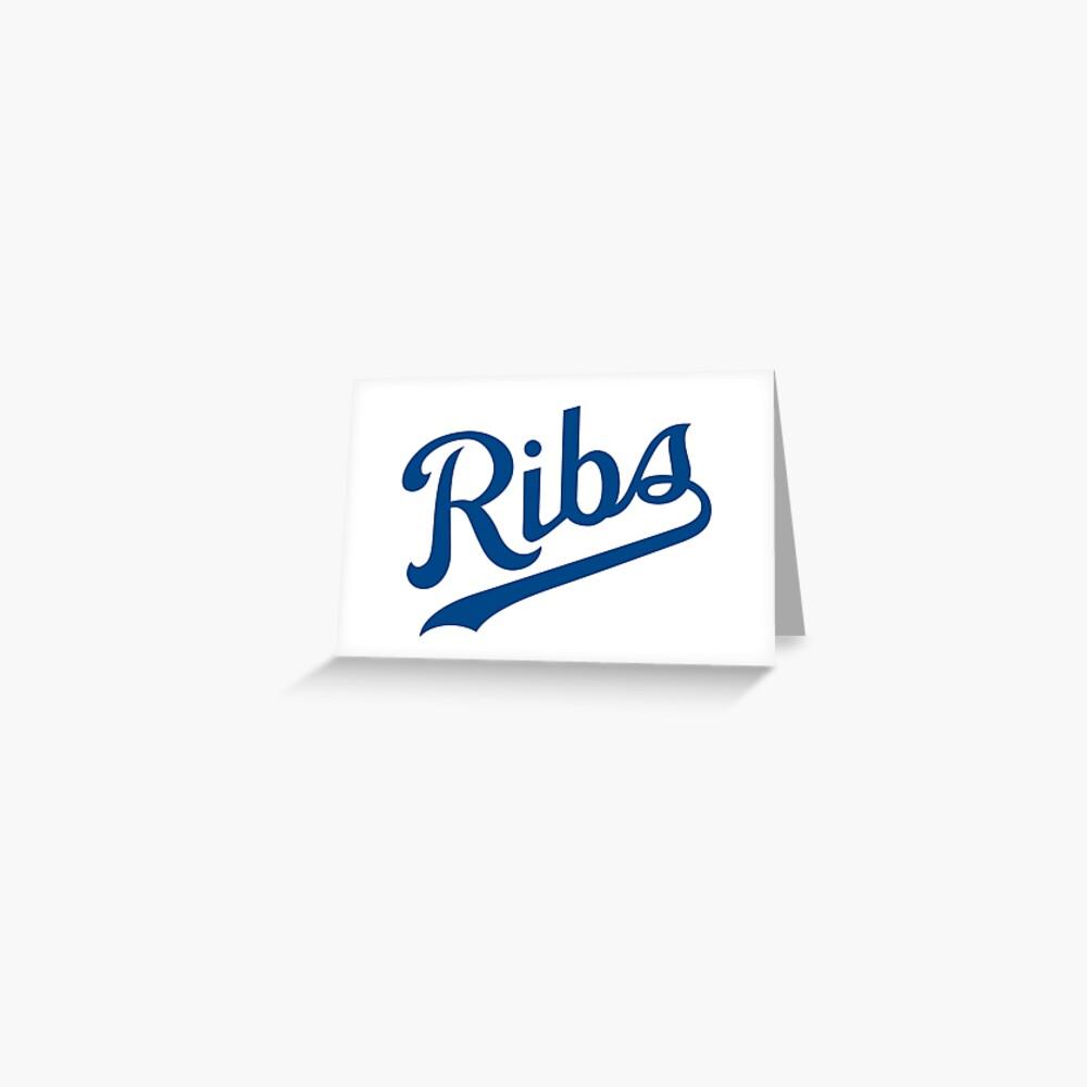 KC Ribs - White 1 Greeting Card