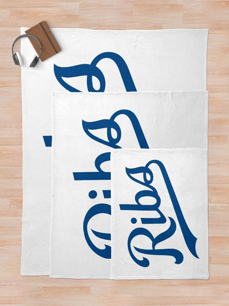 Alternate view of KC Ribs - White 1 Throw Blanket