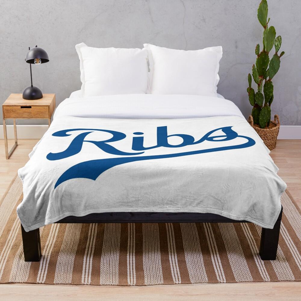 KC Ribs - White 1 Throw Blanket
