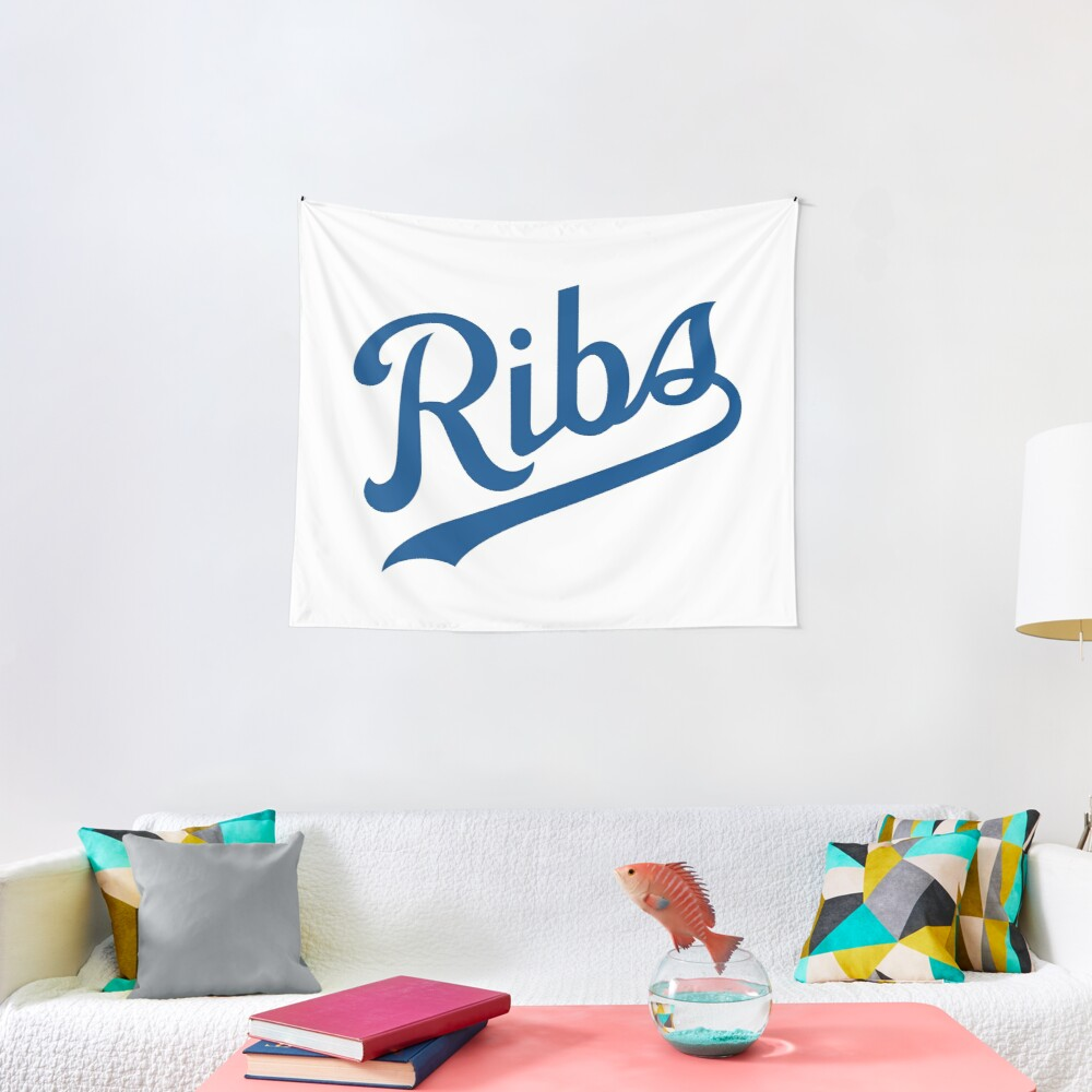 KC Ribs - White 1 Tapestry