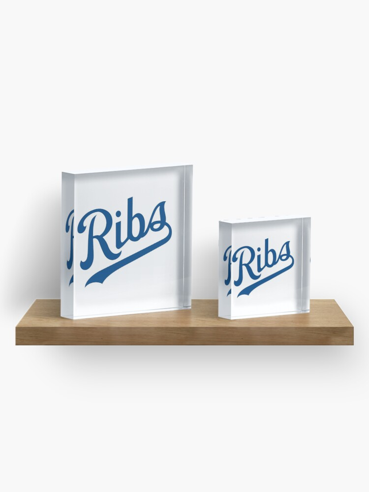 Alternate view of KC Ribs - White 1 Acrylic Block