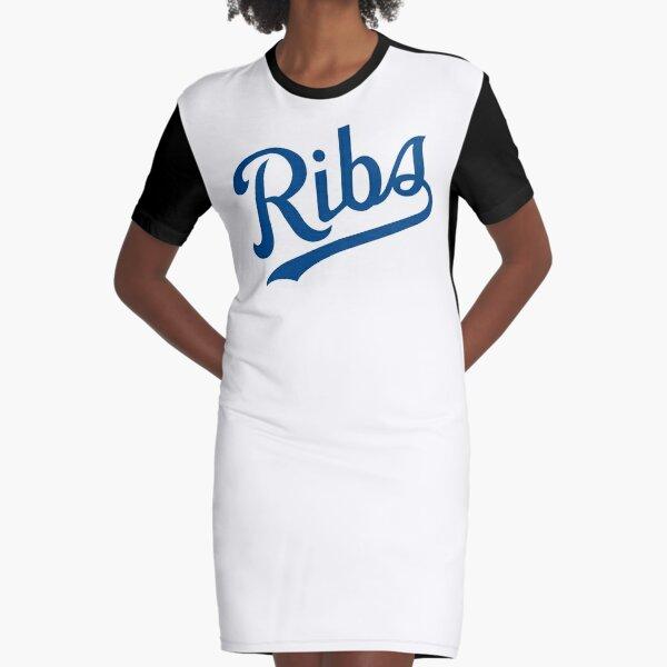 KC Ribs - White 1 Graphic T-Shirt Dress