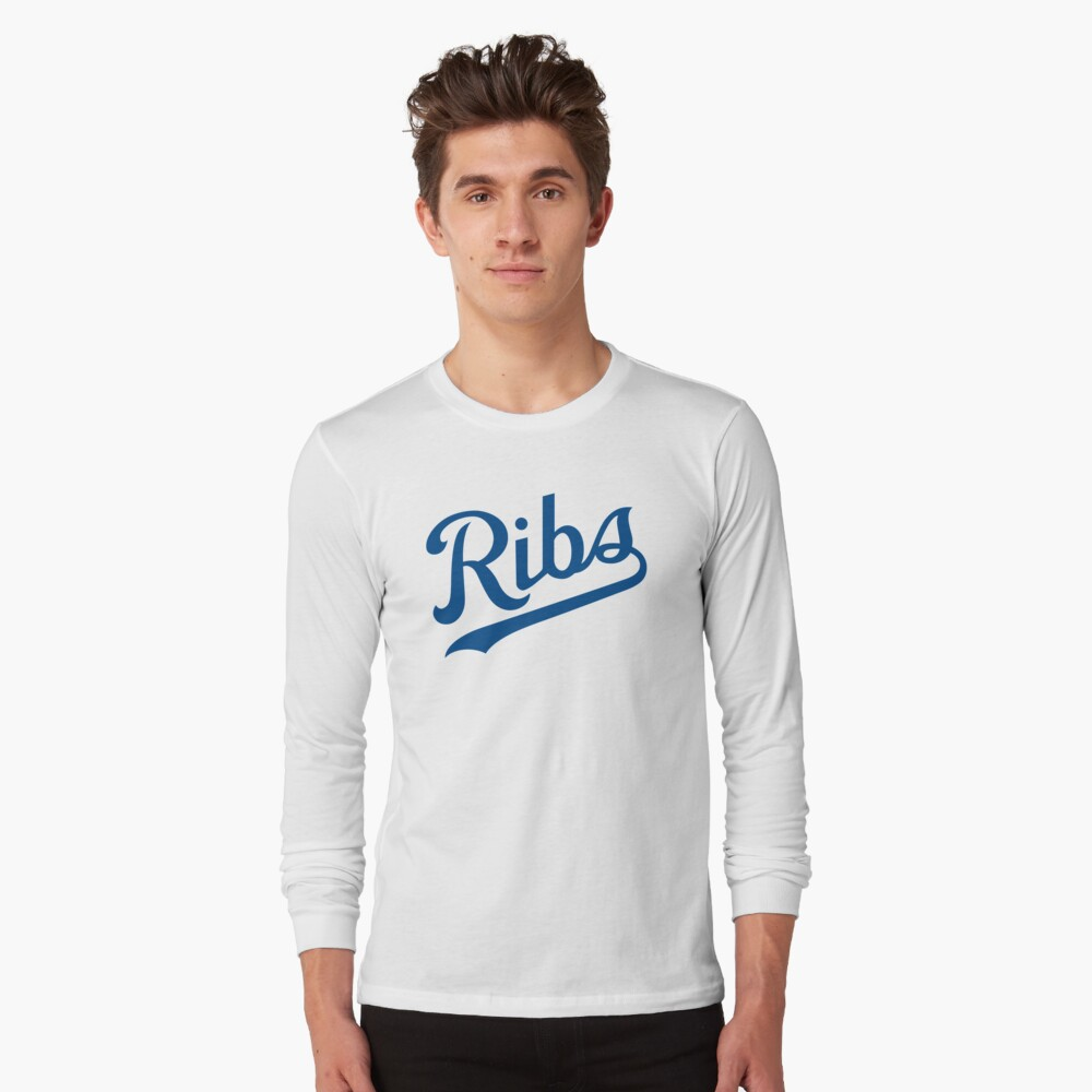KC Ribs - White 1 Long Sleeve T-Shirt