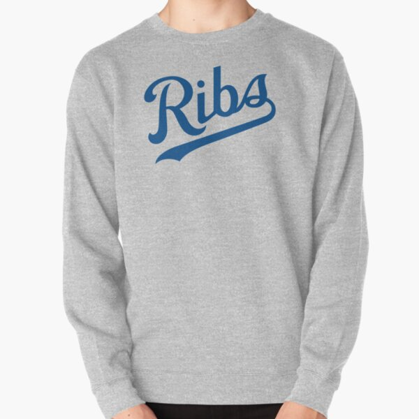 KC Ribs - White 1 Pullover Sweatshirt