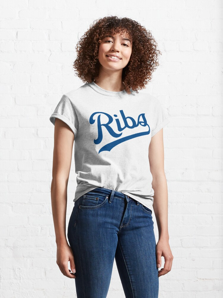 Alternate view of KC Ribs - White 1 Classic T-Shirt