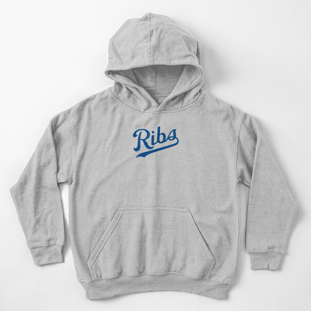 KC Ribs - White 1 Kids Pullover Hoodie