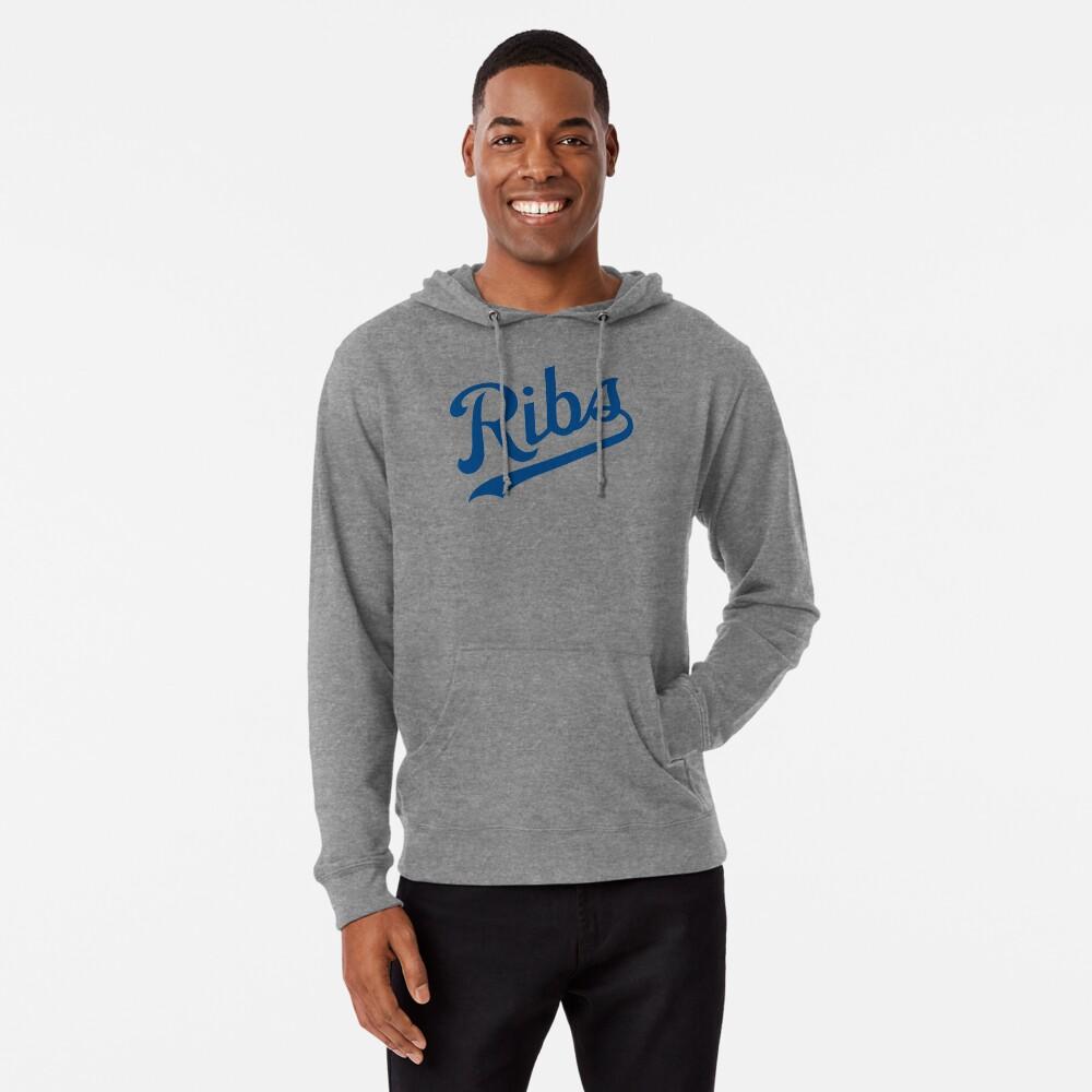 KC Ribs - White 1 Lightweight Hoodie
