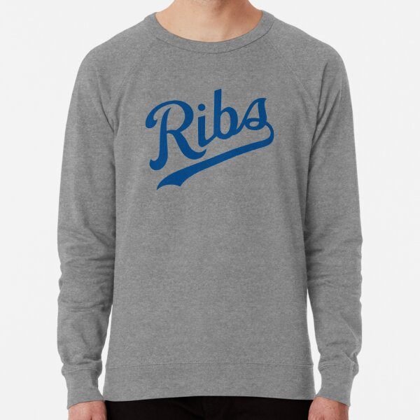 KC Ribs - White 1 Lightweight Sweatshirt