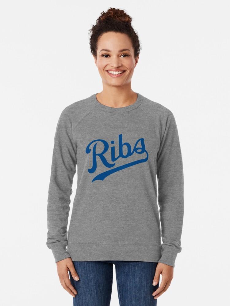 Alternate view of KC Ribs - White 1 Lightweight Sweatshirt