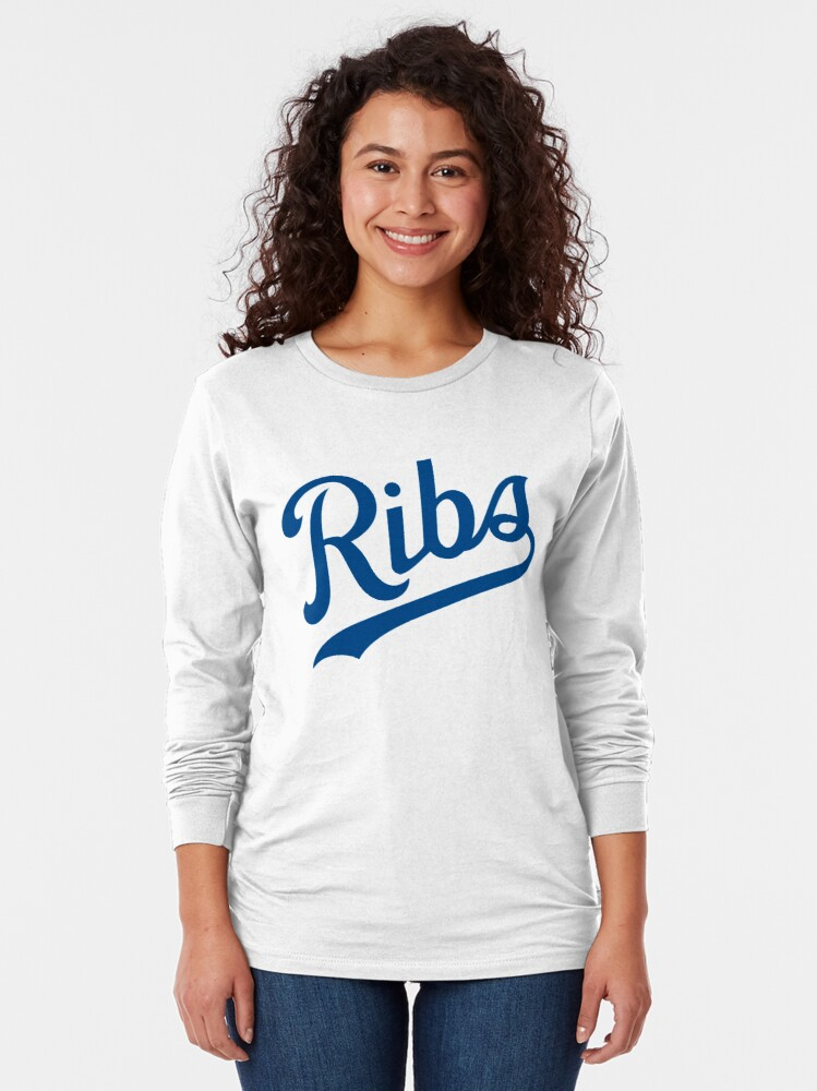 Alternate view of KC Ribs - White 1 Long Sleeve T-Shirt