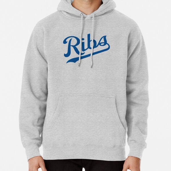 KC Ribs - White 1 Pullover Hoodie