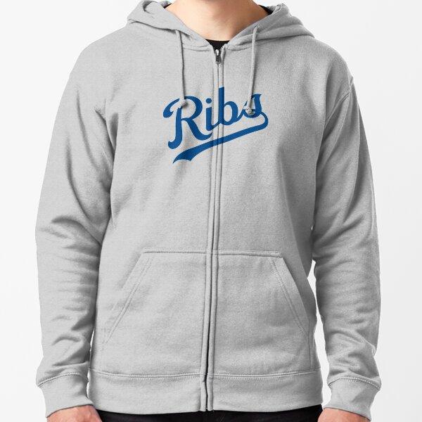 KC Ribs - White 1 Zipped Hoodie