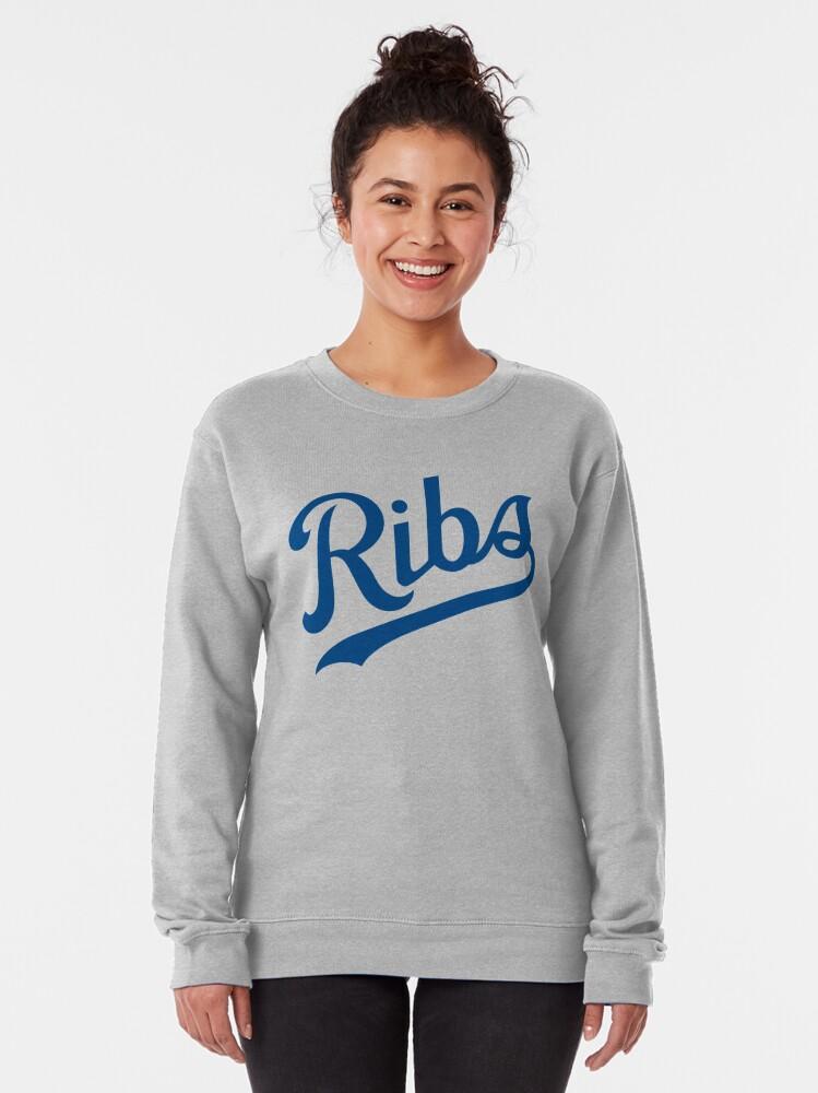 Alternate view of KC Ribs - White 1 Pullover Sweatshirt