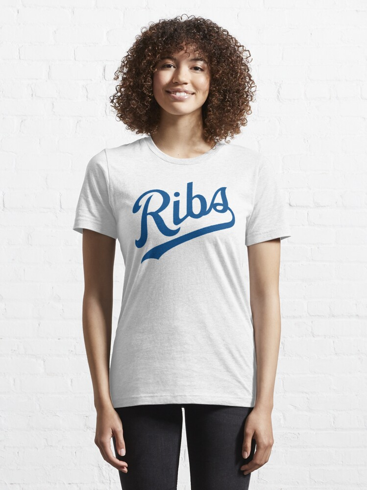 Alternate view of KC Ribs - White 1 Essential T-Shirt