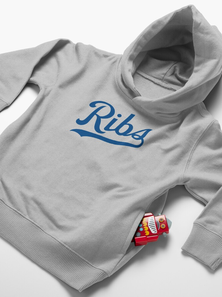 Alternate view of KC Ribs - White 1 Toddler Pullover Hoodie