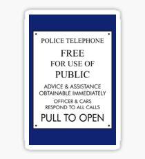 Tardis Sign/ Policebox Notice Sticker