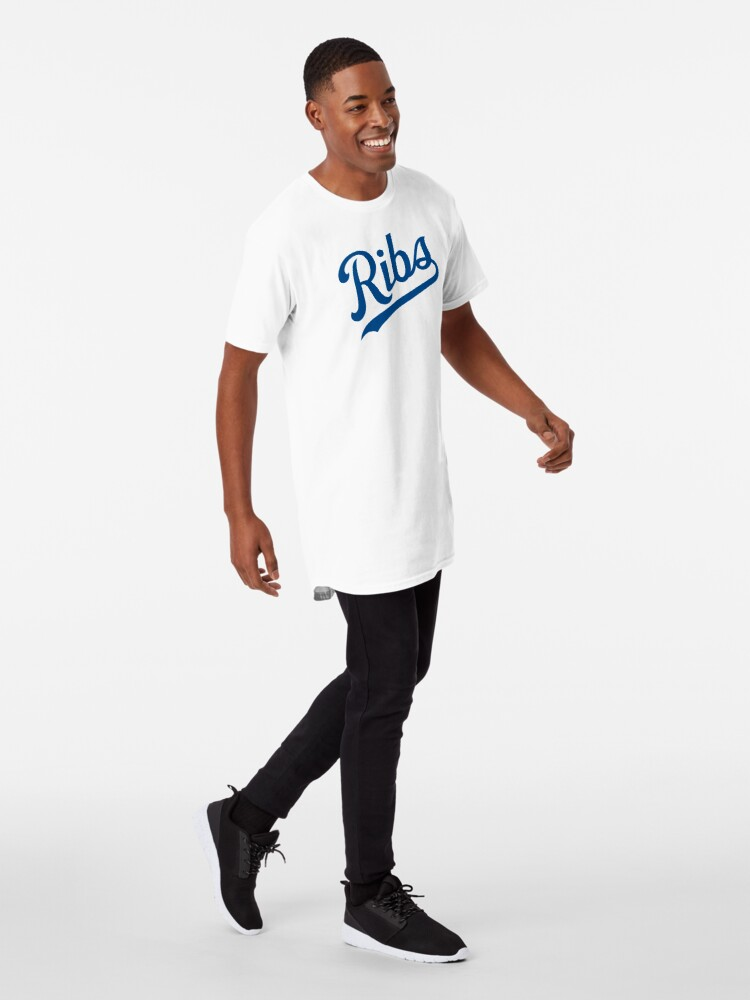 Alternate view of KC Ribs - White 1 Long T-Shirt