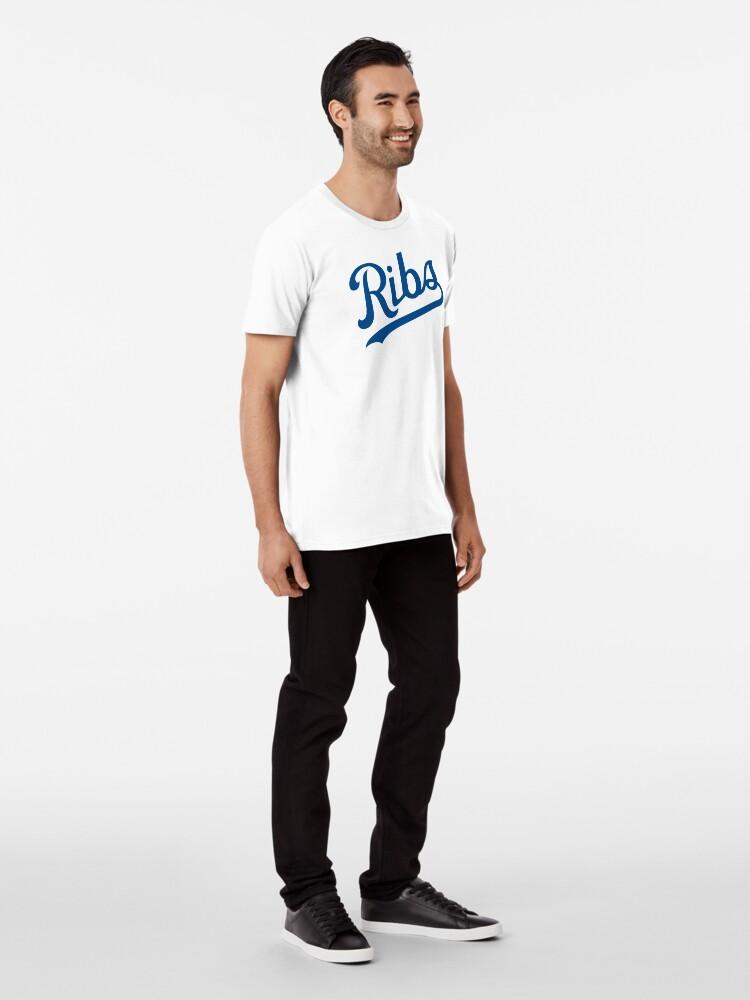 Alternate view of KC Ribs - White 1 Premium T-Shirt
