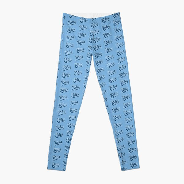KC Ribs - Powder Blue 1 Leggings
