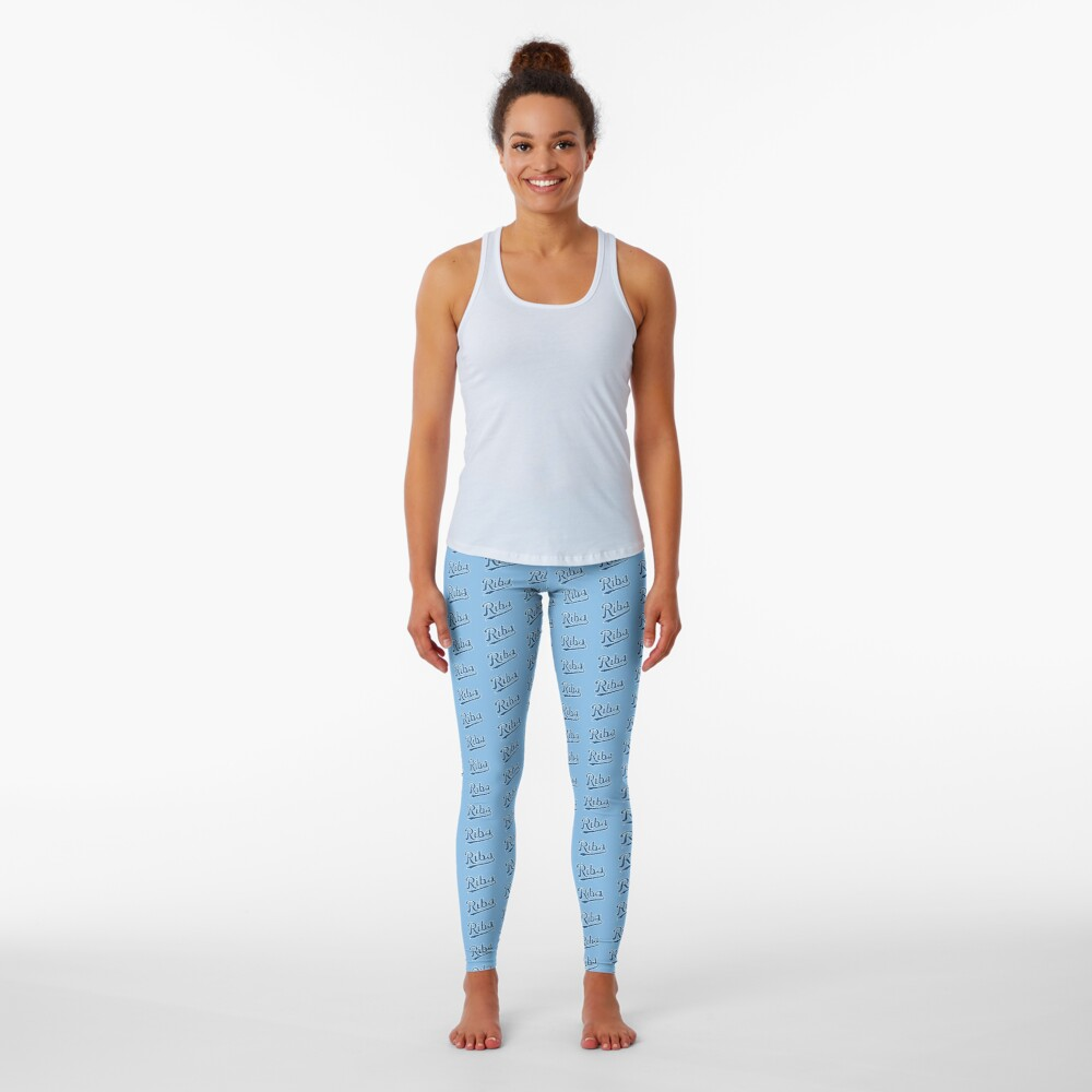 KC Ribs - Powder Blue 1 Leggings