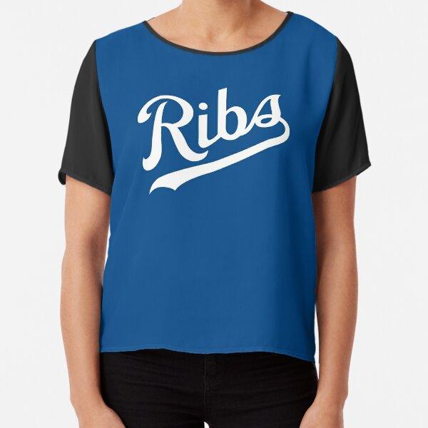 KC Ribs - Blue 1 Chiffon Top